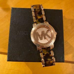 "🎉""HP"" Michael Kors tortoise watch. New"
